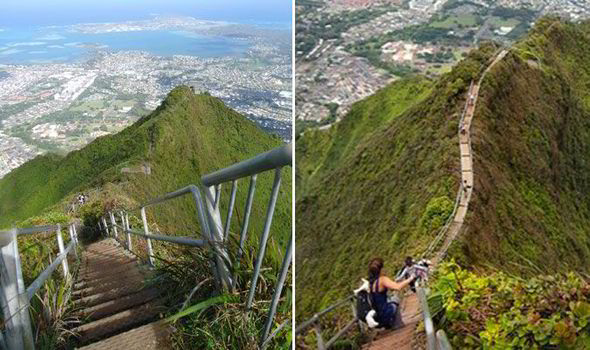 Would You Climb This Hawaii39s Haiku Stairs Are The Most