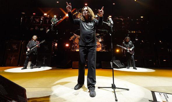 Black Sabbath performing
