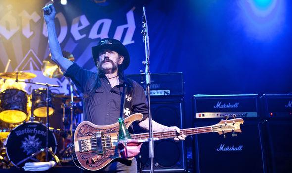 Motorhead's Lemmy performing