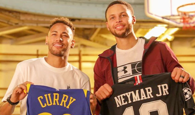 Cr7 Wallpaper Iphone X Nba News Steph Curry Meets Neymar And Swap Shirts With