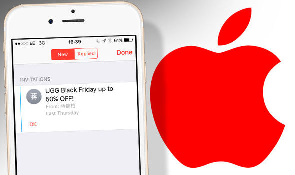 How to stop iPhone calendar SPAM events Expressuk