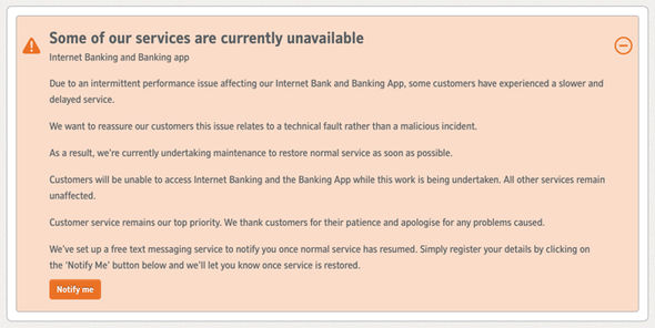 Nationwide DOWN - Online banking and mobile app NOT WORKING in UK