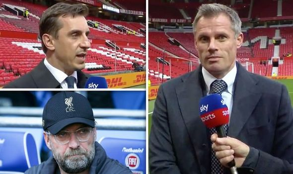 Liverpool Icon Carragher Pulls Hilarious Face After Man Utd Hero Neville Makes Title Claim