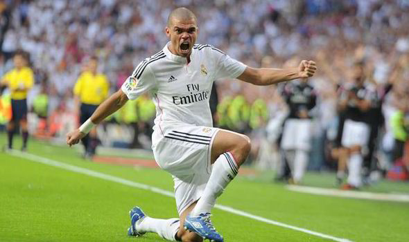 Pepe Manchester United Real Madrid Manchester City