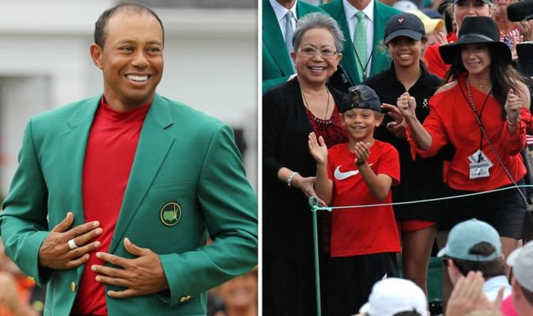 pictures tiger woods children masters