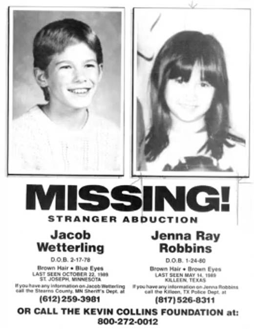 Remains of young boy who was abducted by gunman 27 years ago found - Missing Persons Posters