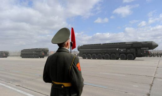 The Topol missile in a military parade
