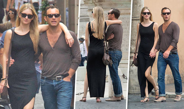 Jude Law And His Leggy Girlfriend Phillipa Coan Put On A