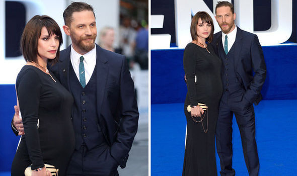 Tom Hardy39s Wife Charlotte Riley Reveals Pregnancy On Red