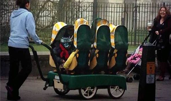 Baby Pram Double Check Out The Super Buggy With Room For A Little 'un Or