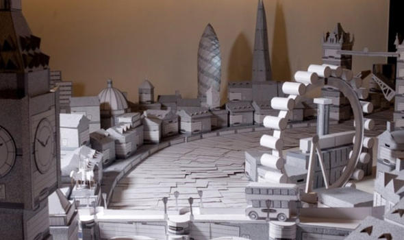 The World39s Most Famous Cities Made Out Of Cardboard