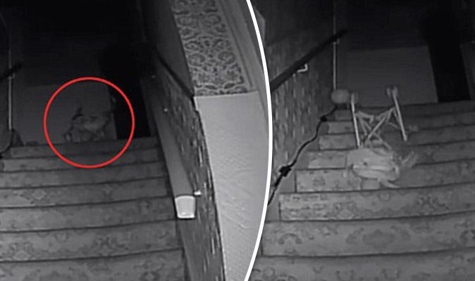 39black Monk39 Filmed Pushing Pushchair Down Stairs By Ghost