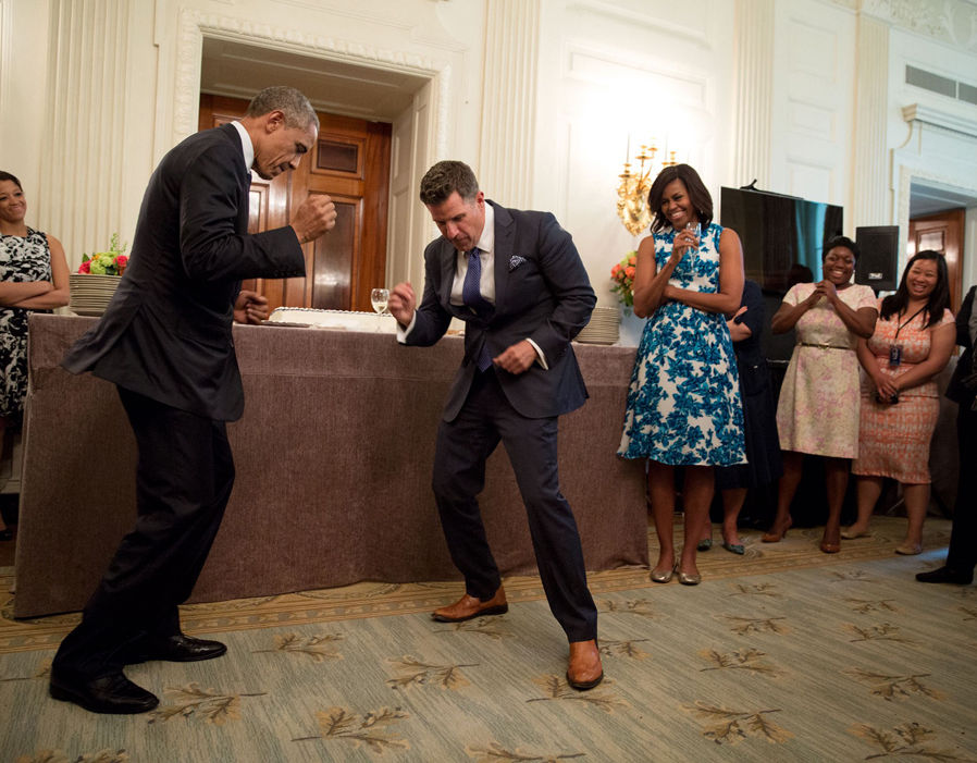 President Barack Obama dances with Jeremy Bernard 44 - dance resumeresume prime