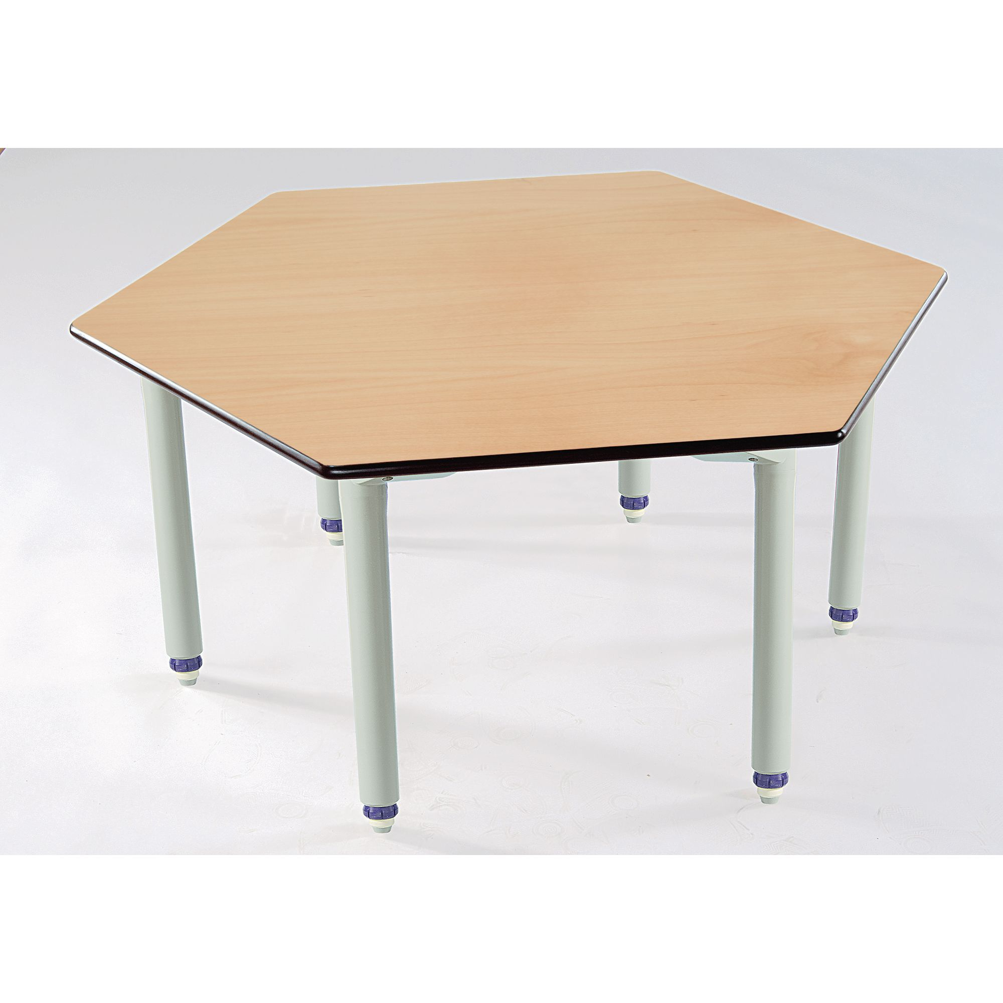 Table Polypropylène Galt Hexagonal Wood Polypropylene Classroom Table 1100 X 1100 X 405 To 640mm Beech