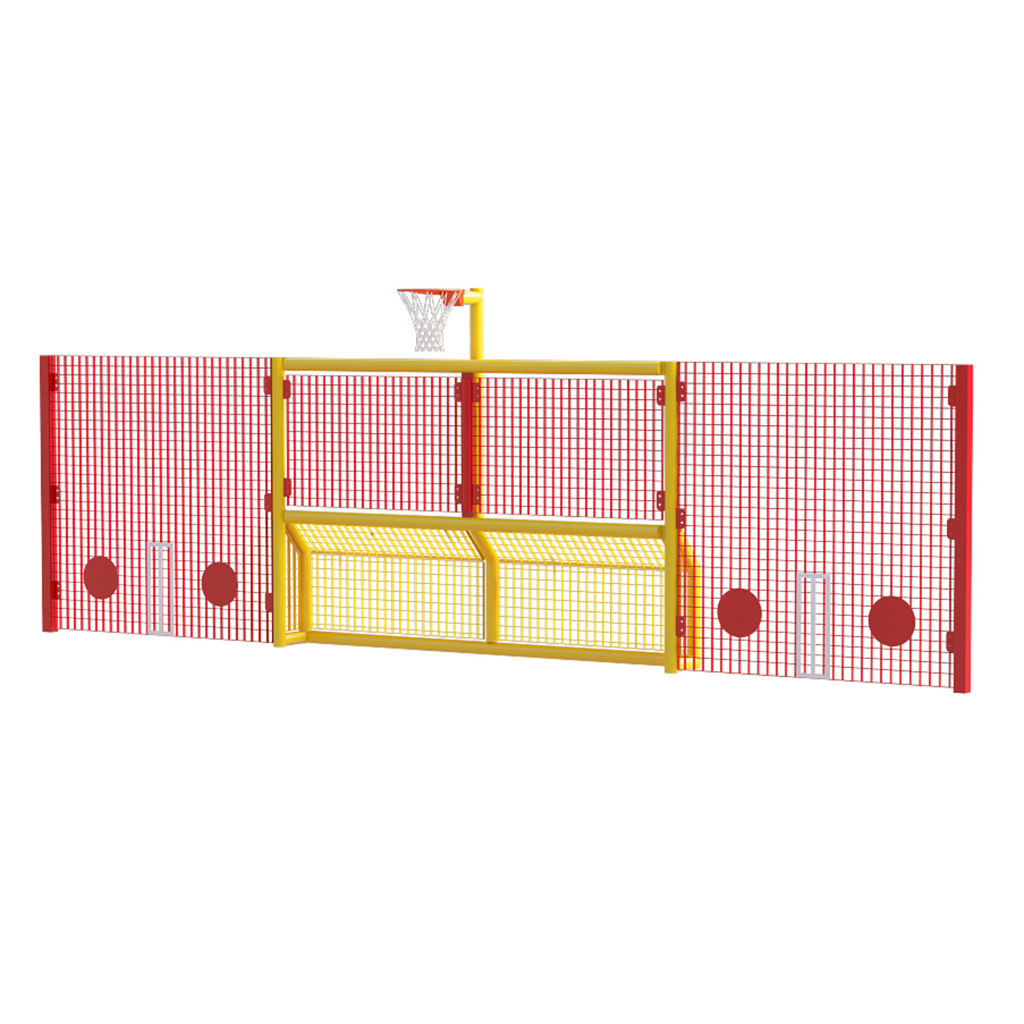 Basketball Ring Target Primary 5 A Side Goal With Basketball Ring And High Side