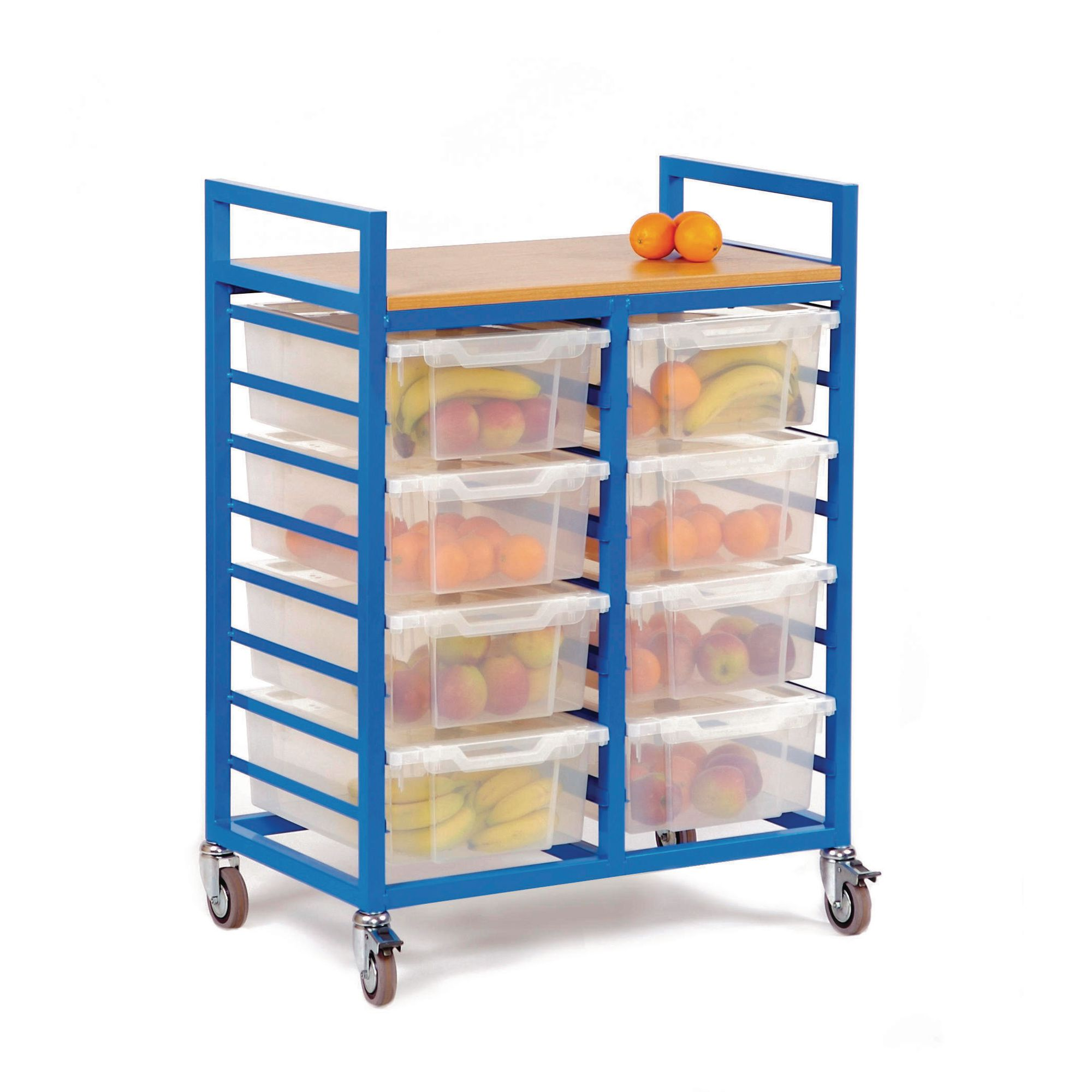 A Frame Trolley Storage Trolley With Trays Yellow Frame Ea
