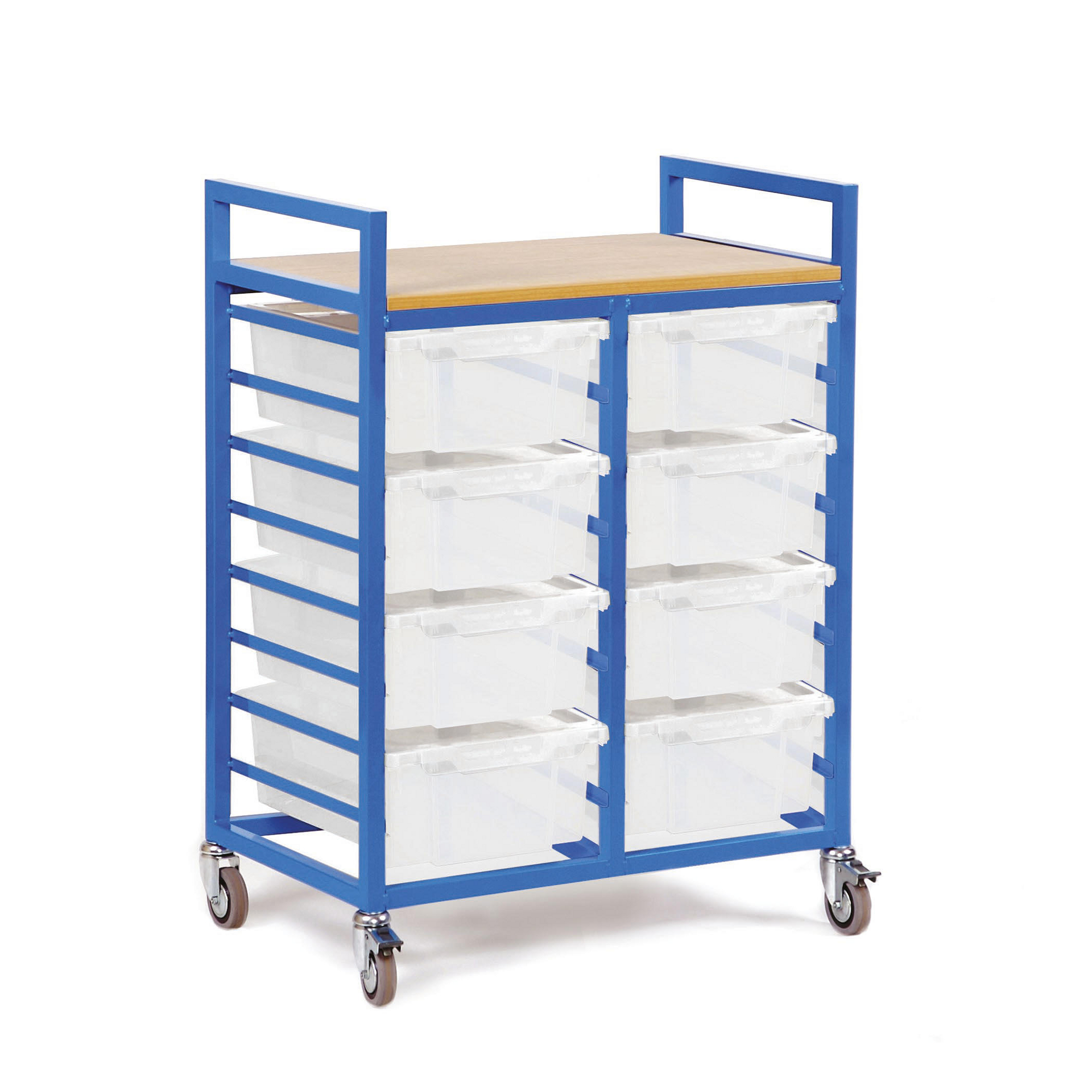 A Frame Trolley Storage Trolley With Trays Blue Frame