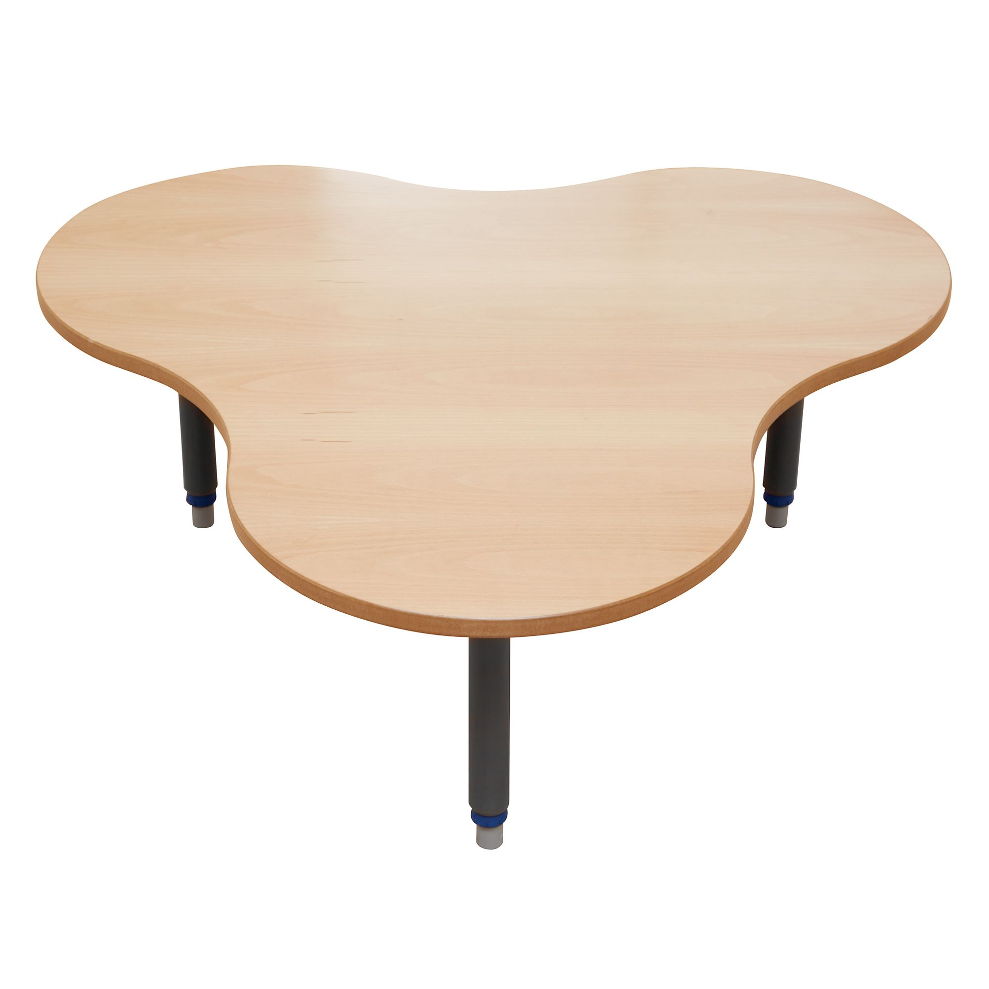 Table Polypropylène Galt Clover Height Adjustable Wood Polypropylene Classroom Table 1175 X 1095 X 405 To 640mm Beech