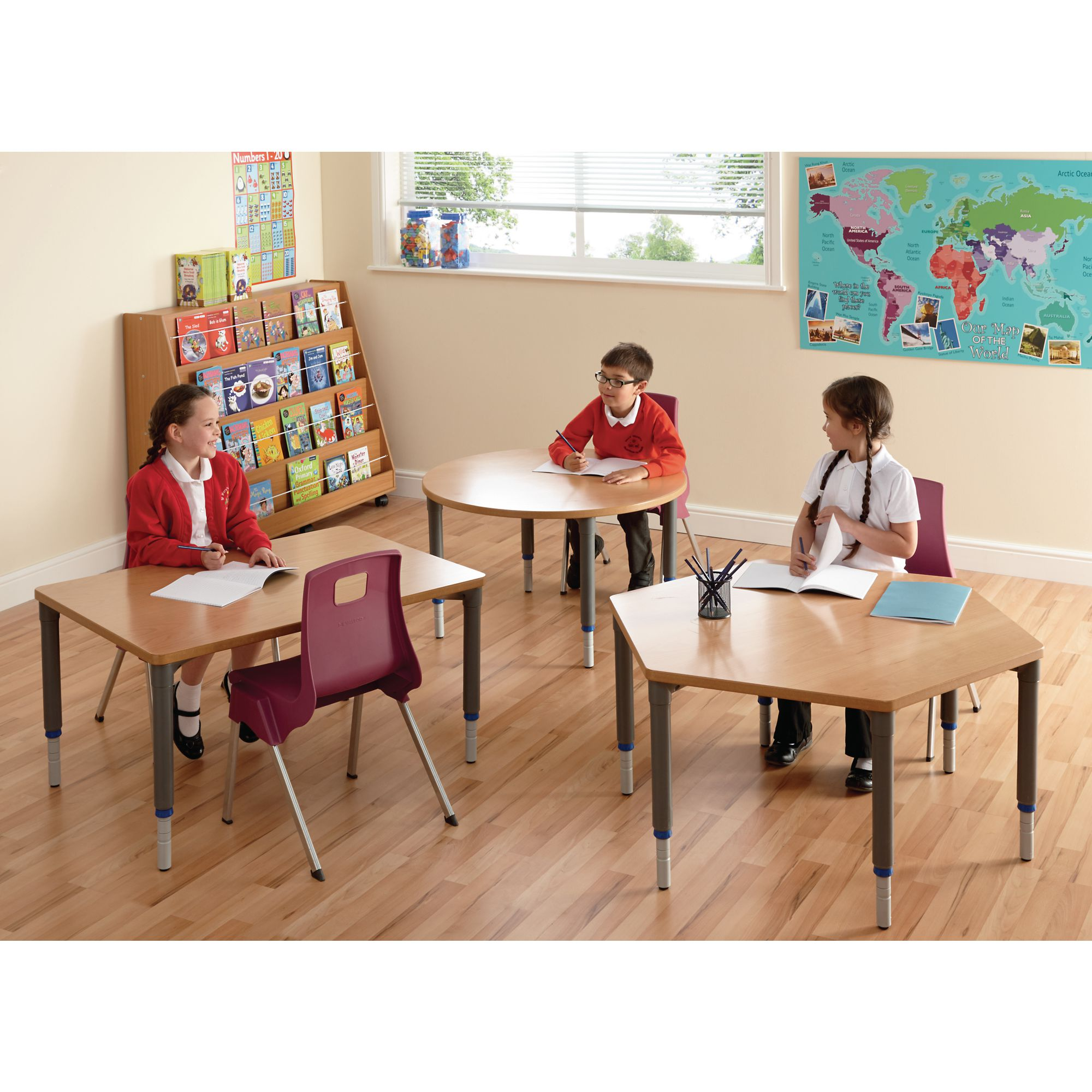 Table Polypropylène Galt Rectangular Height Adjustable Wood Polypropylene Classroom Table 1000 X 700 X 405 To 640mm Beech Ea
