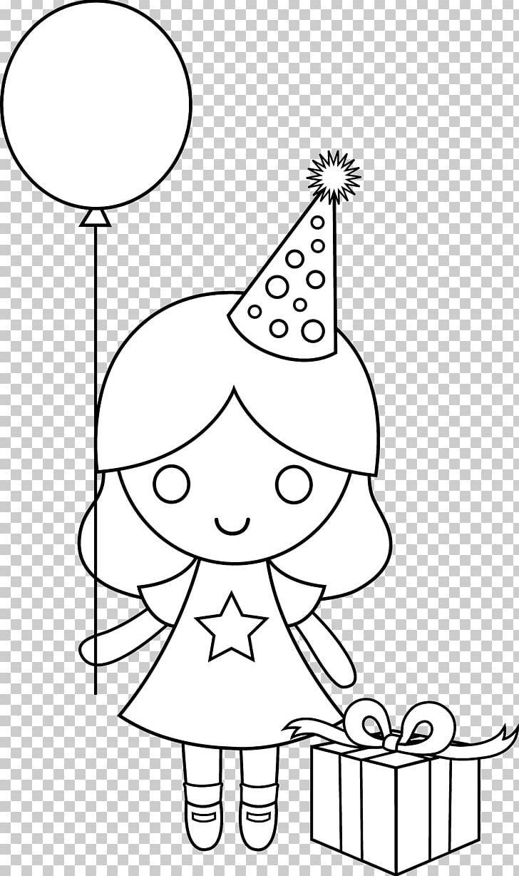 Party Hat Clipart Black And White Birthday Drawing Coloring Book Png Clipart Angle Area Art