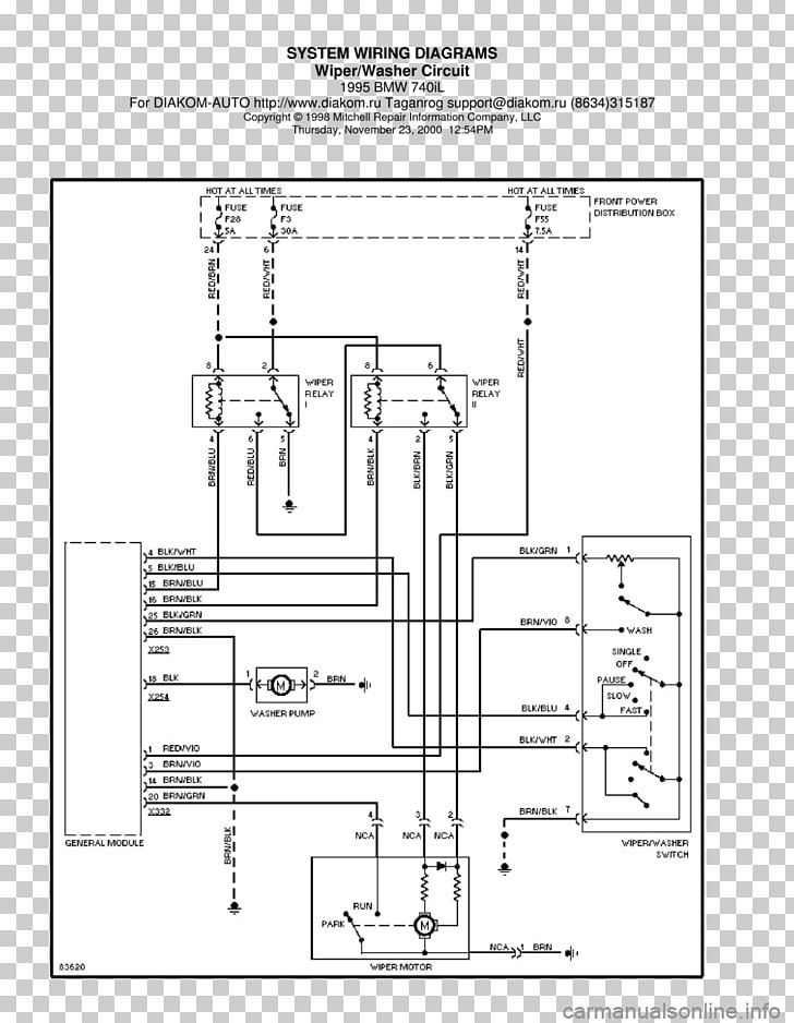 bmw 7 series e38 wiring diagram