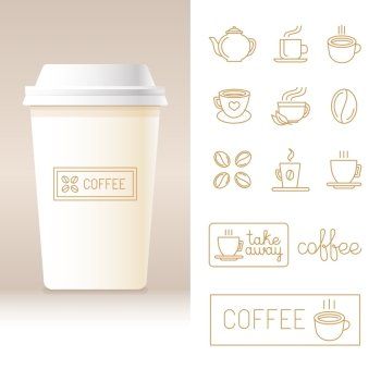 You searched for coffee cup vector logo design template cafe shop