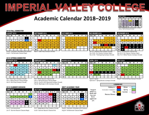 Academic Calendars - Courses  Programs - Imperial Valley College