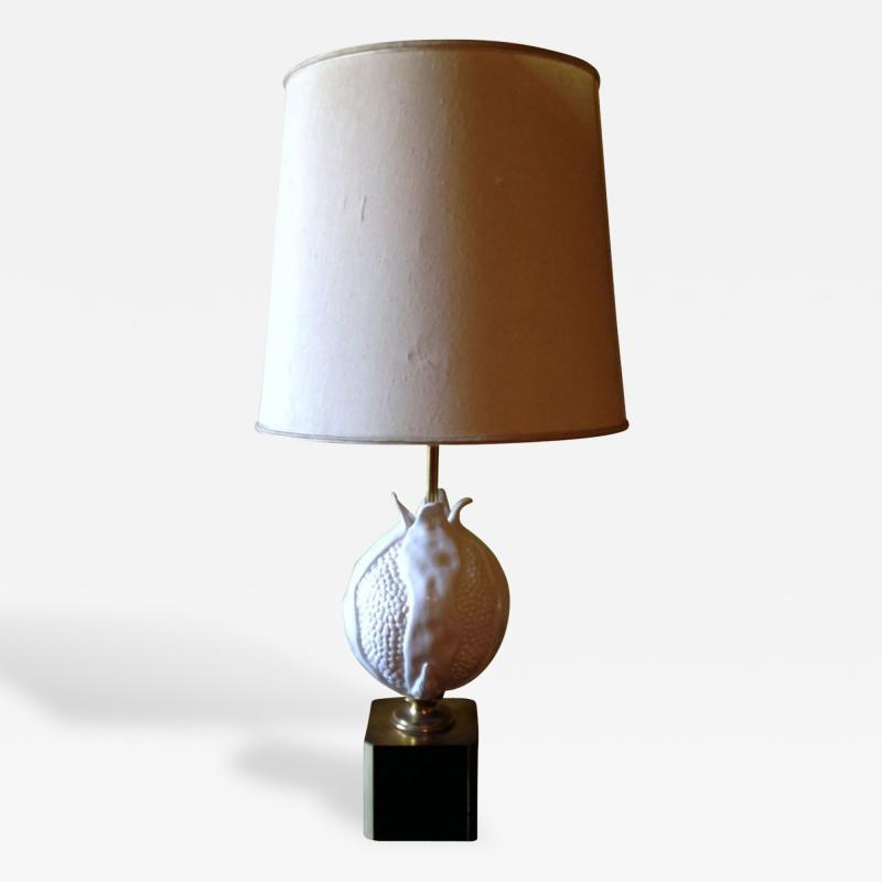 Large Italian Ceramic Table Lamp