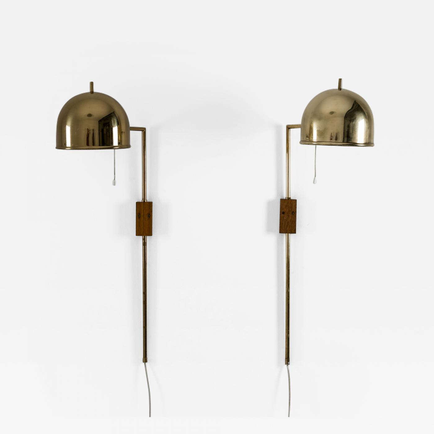 Lighting Wall Lights Bergboms Scandinavian Midcentury Wall Lamps In Brass By Bergboms Sweden