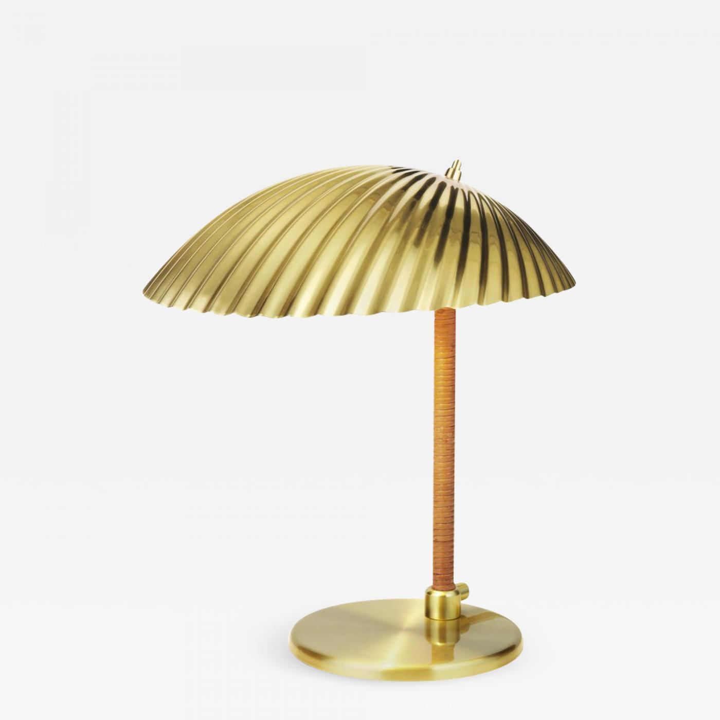 Rattan Table Gubi Paavo Tynell Model 5321 Brass And Rattan Table Lamp
