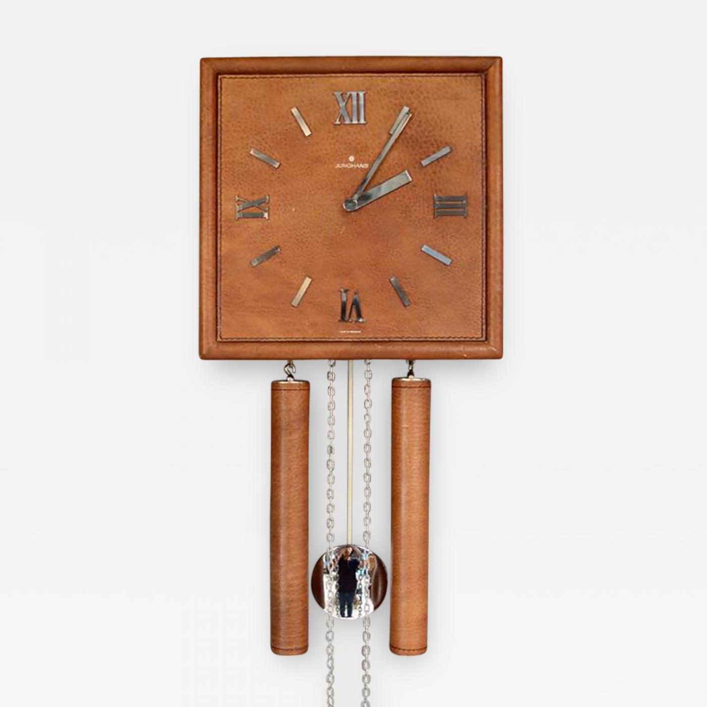 Junghans Uhren Junghans Uhren Gmbh German Leather Wall Clock