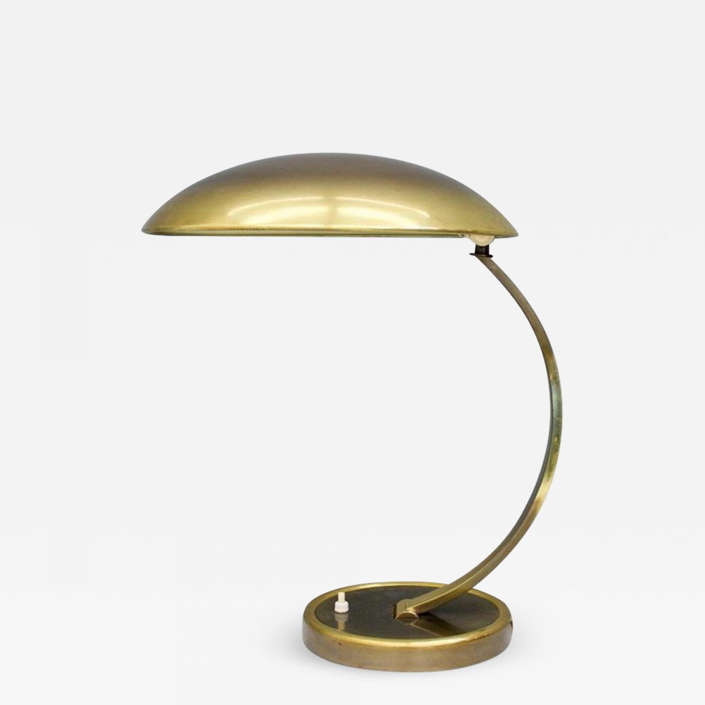 Leuchten Kaiser Kaiser-idell / Kaiser Leuchten /kaiser & Co. - Brass Desk Lamp By Christian Dell 6751 For Kaiser, Germany, 1950s
