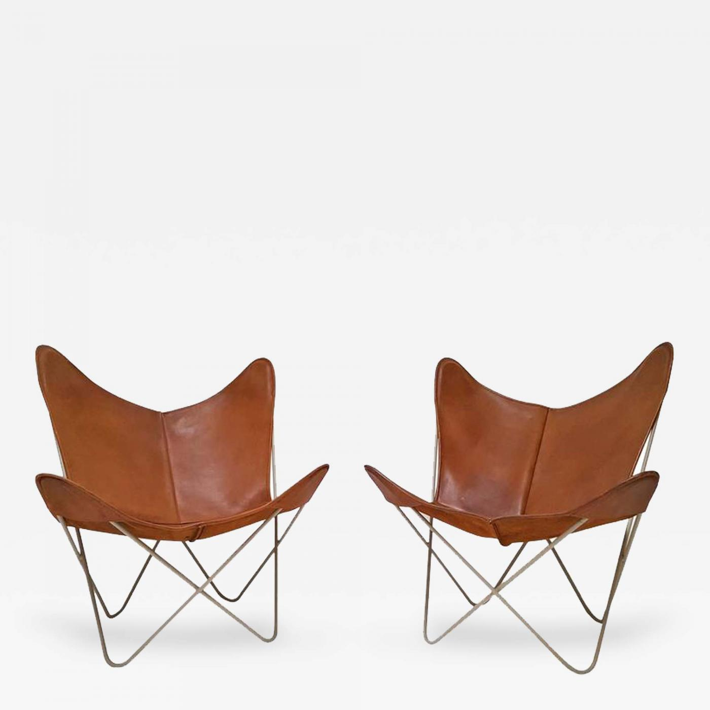 Butterfly Chair Knoll Knoll Early Pair Of Hardoy Butterfly Sling Chairs For Knoll International