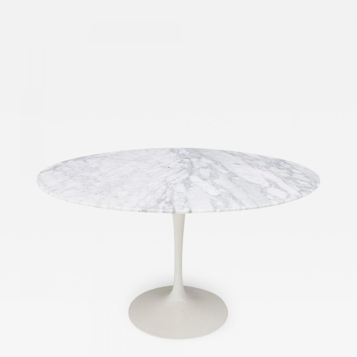 Saarinen Knoll Table Knoll International Eero Saarinen Tulip Dining Table With White Marble Top Knoll Internationa