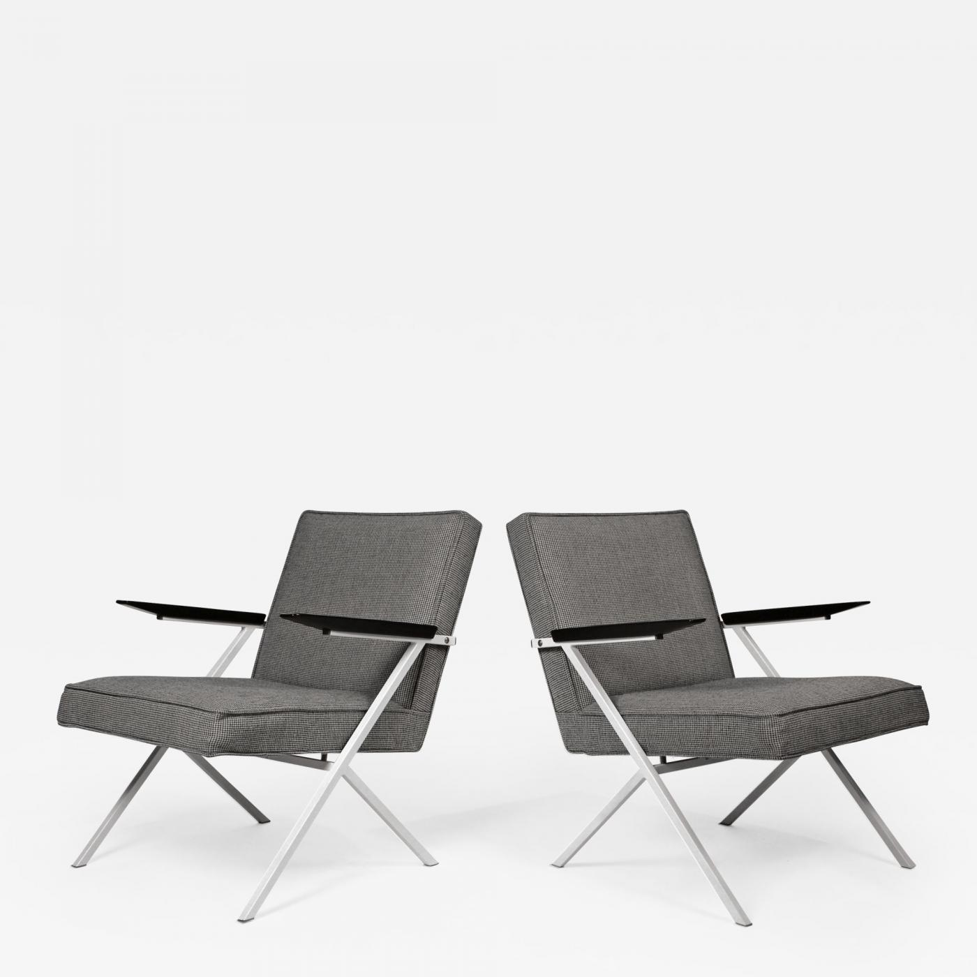 Knoll International Knoll International Ladislav Rado Cantilevered Lounge Chairs For Knoll And Drake 1950s