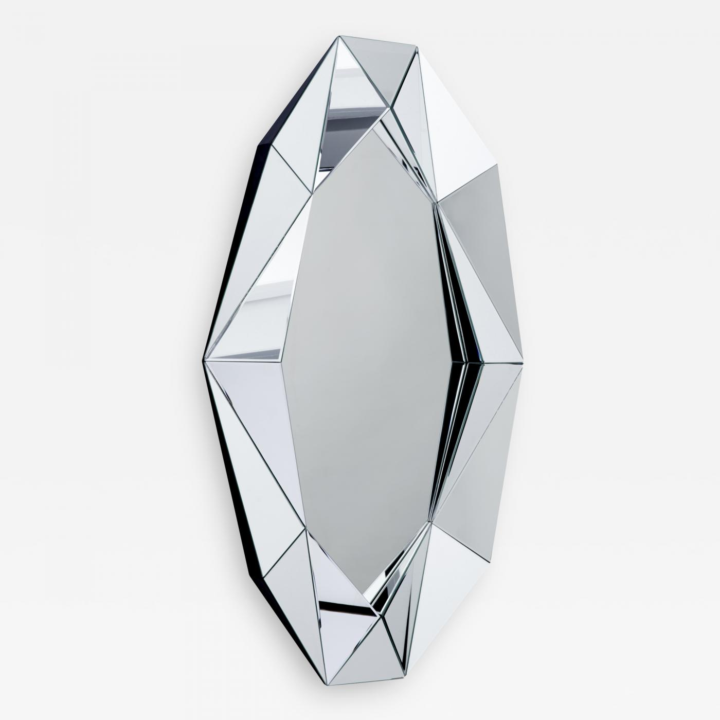 Decorative Mirror Reflections Copenhagen Silver Large Diamond Decorative Mirror