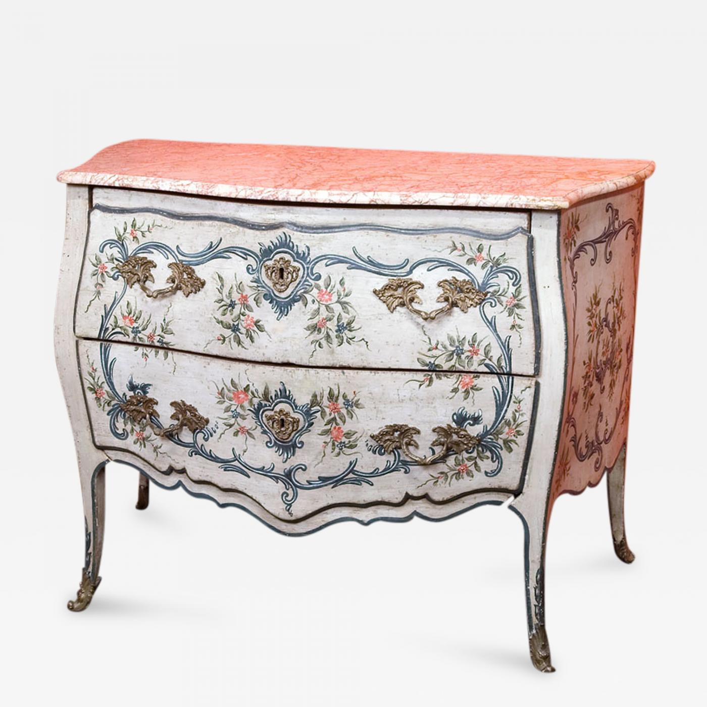 Commode Rose A Lacquered Wood Ligurian Commode With Rose Debrignoles Marble Top