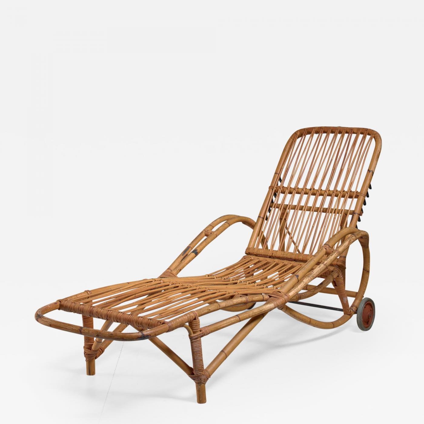 Chaise Longue Tweedehands Adjustable Bamboo Garden Chaise Longue Germany 1930s