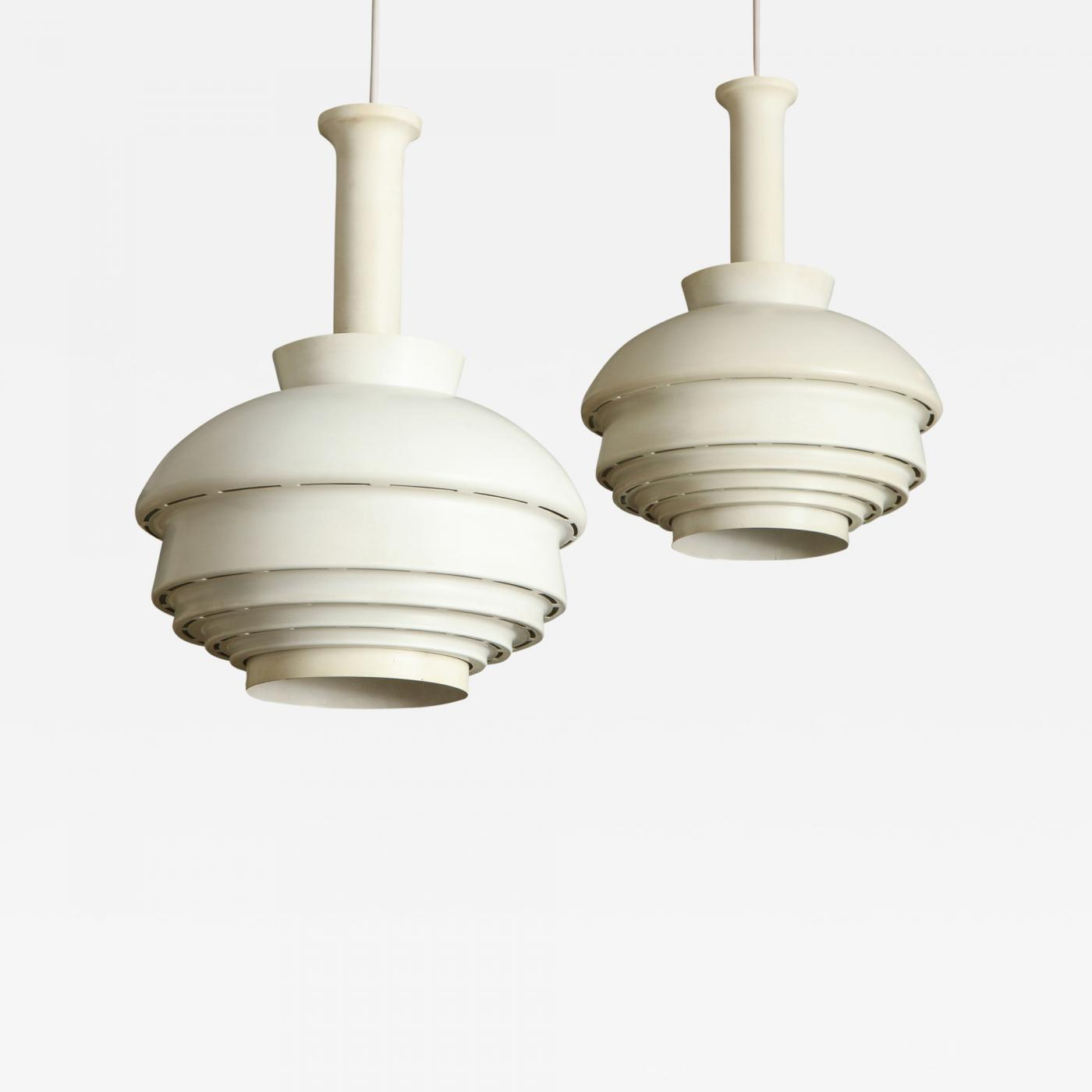 Pendant Lighting Alvar Aalto Two Alvar Aalto A335b Pendant Lights