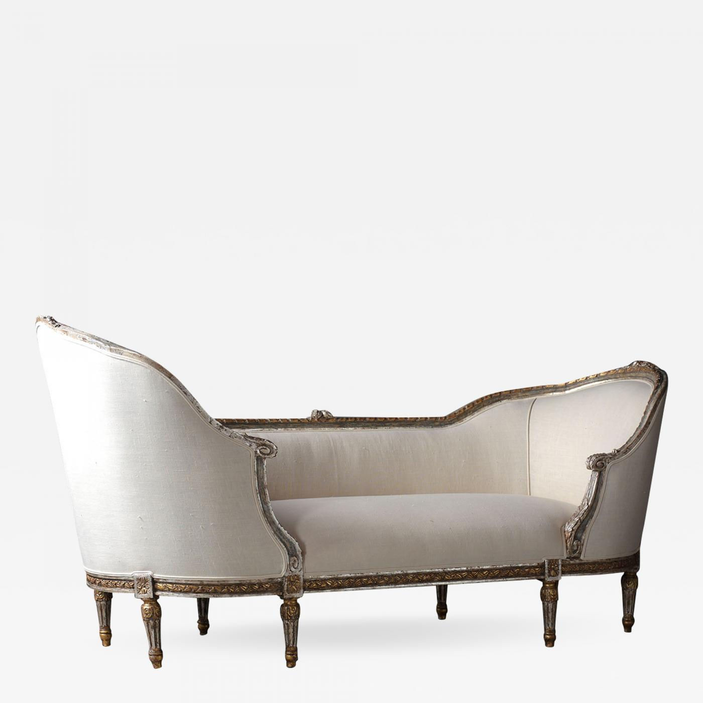 Chaise Style Antique French Louis Xvi Style Chaise Lounge