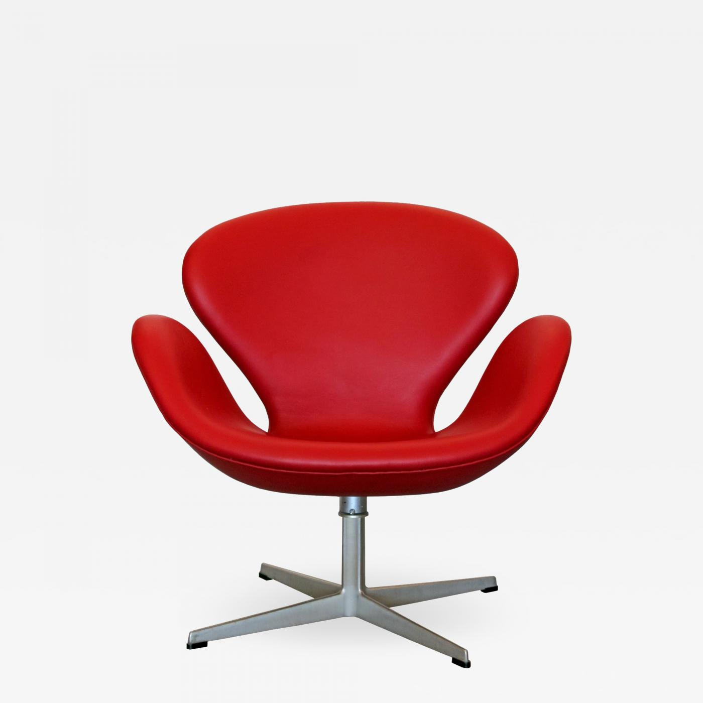 Arne Jacobsen Red Leather