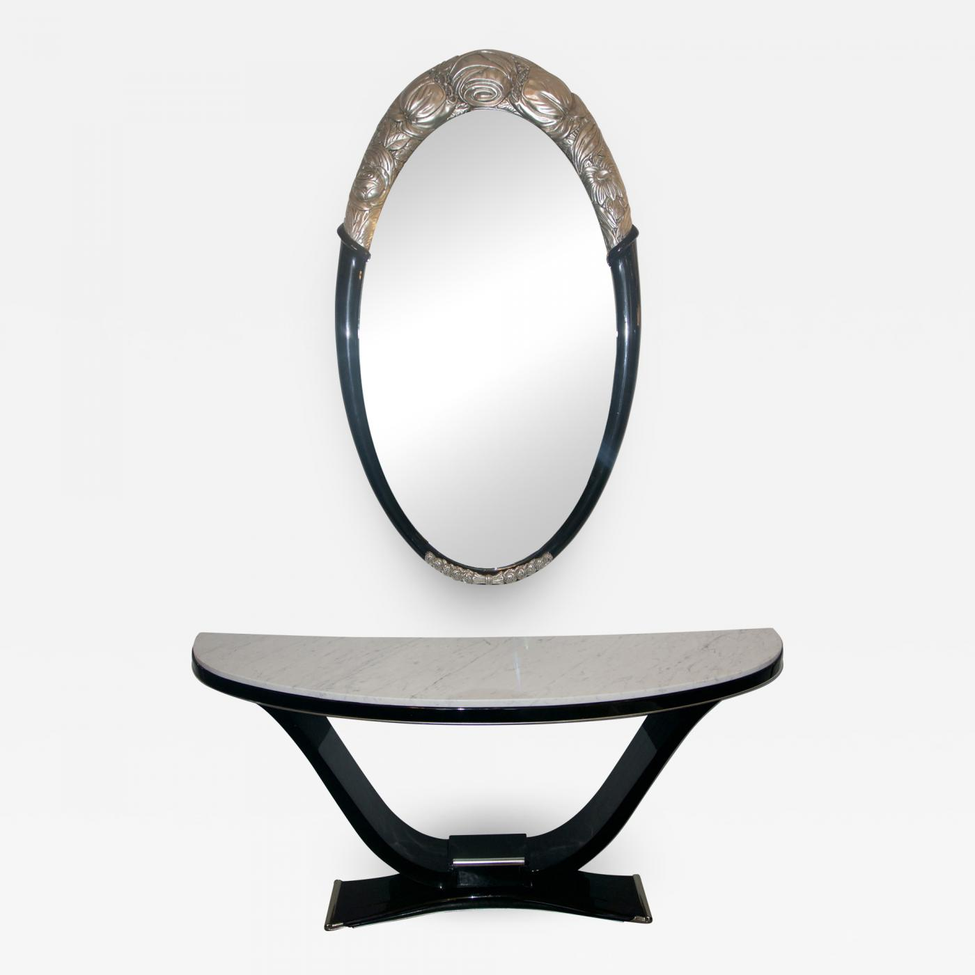 Art Deco Style Mirror Art Deco Style Black And Silver Console And Mirror