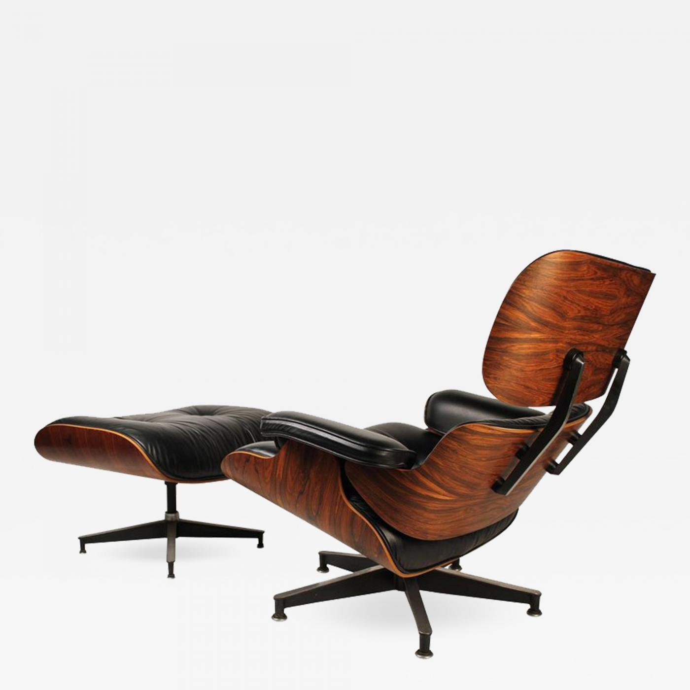Charles Eames Lounge Chair Charles & Ray Eames - Vintage Rosewood Charles Eames 670 Lounge Chair & 671 Ottoman For Herman Miller
