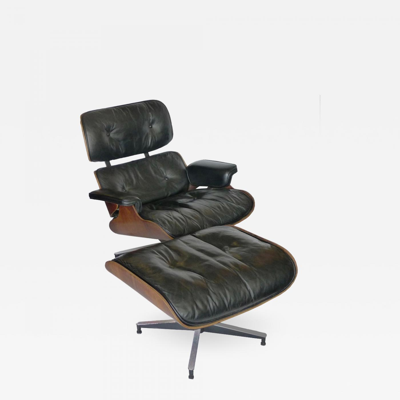 Eames Ottoman Black Leather Rosewood Eames 670 Chair And 671 Ottoman
