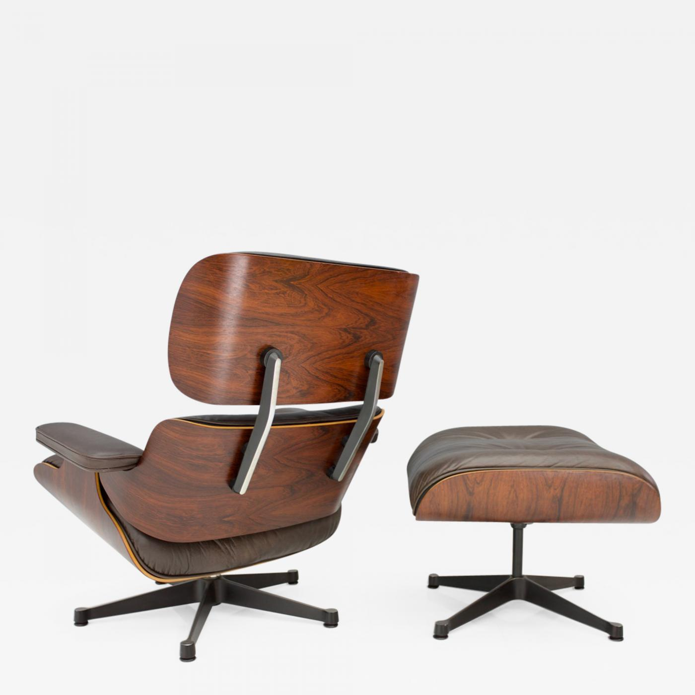 Ray And Charles Eames Charles Ray Eames Charles Eames Lounge Chair With Ottoman In Chocolate Brown Leather