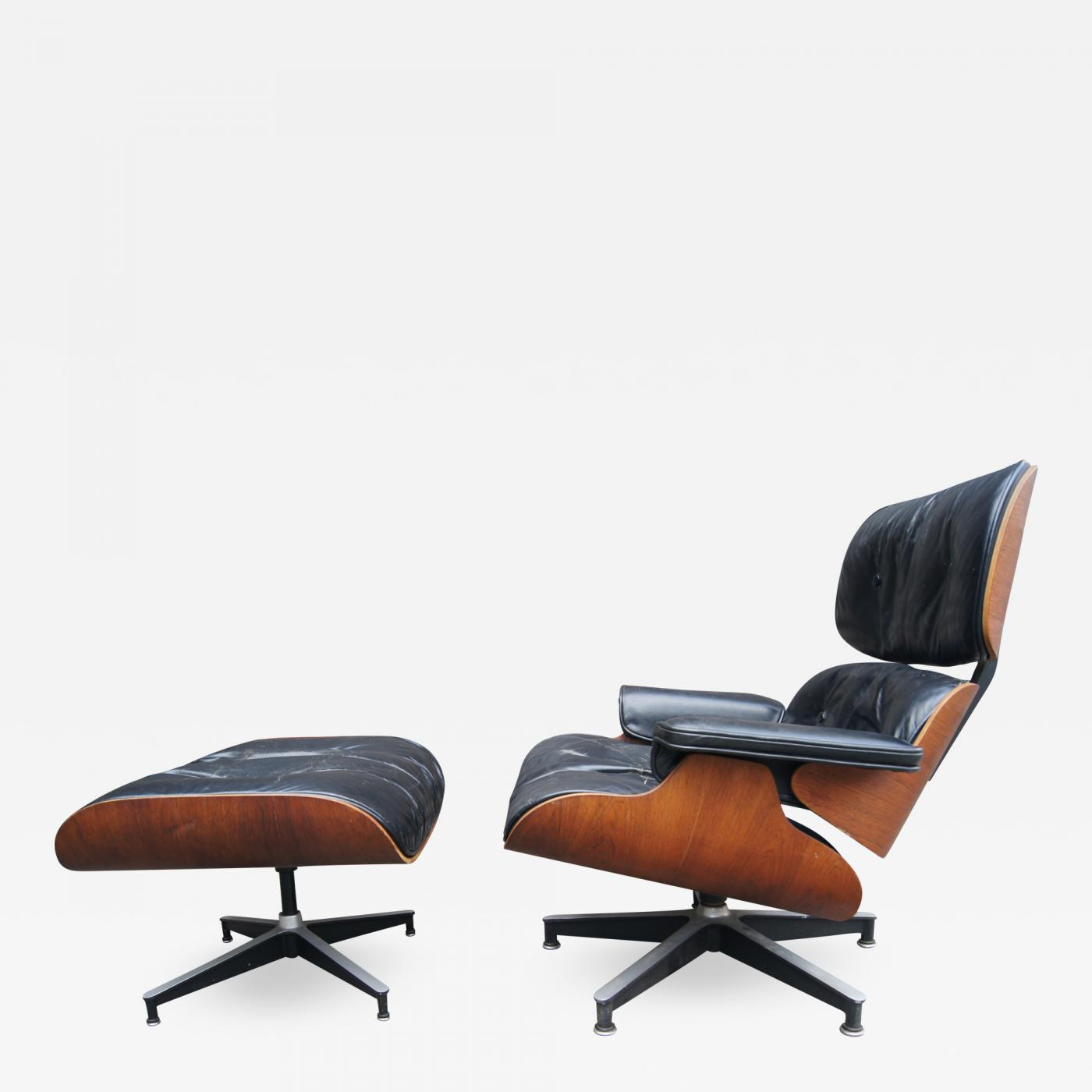 Eames Ottoman Charles And Ray Eames Lounge Chair Ottoman Model 670 671 By Charles Ray Eames For Herman Miller