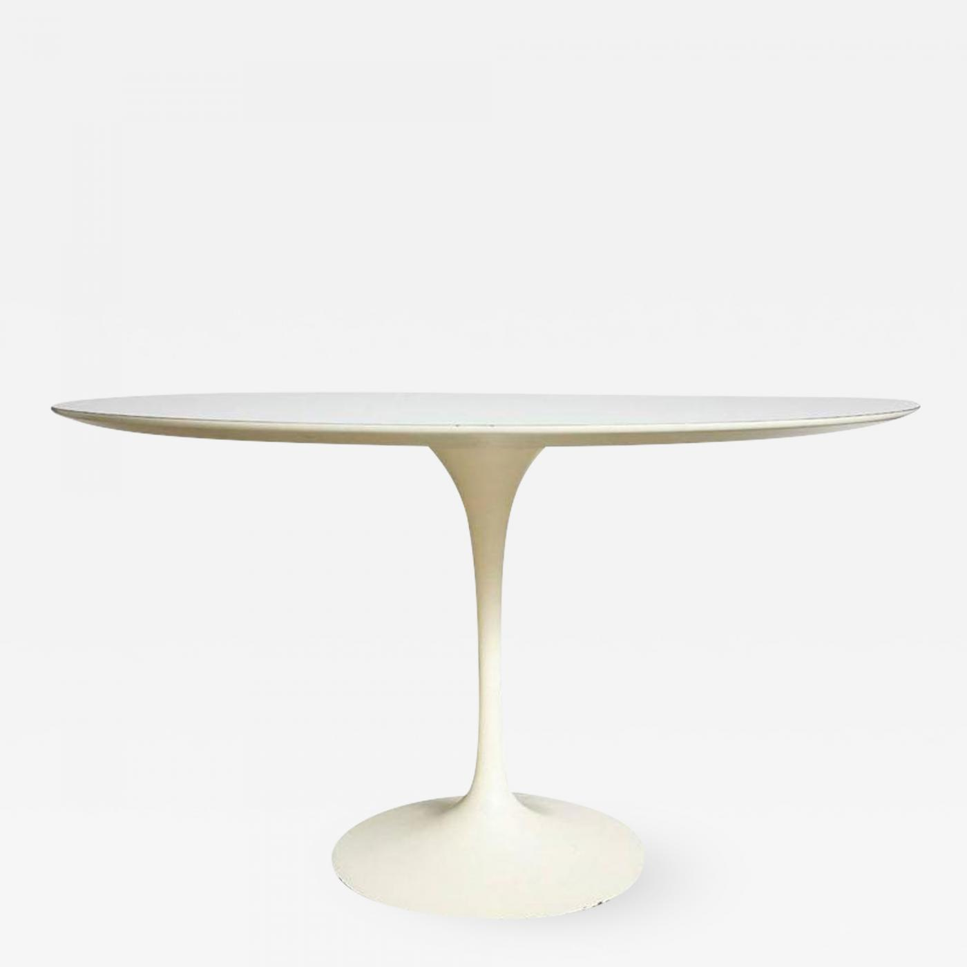 Saarinen Knoll Table Eero Saarinen Saarinen Knoll Dining Table White Laminate Usa 1960s