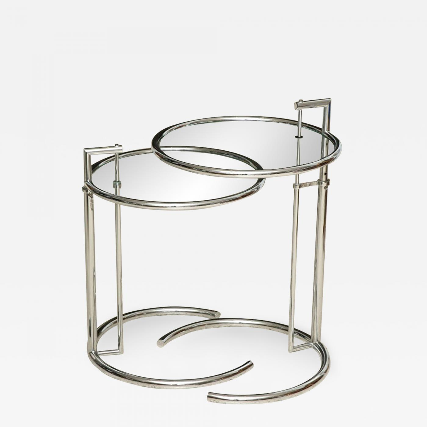 Eileen Gray Table Eileen Gray A Pair Of Eileen Gray Polished Chrome And Glass Tables