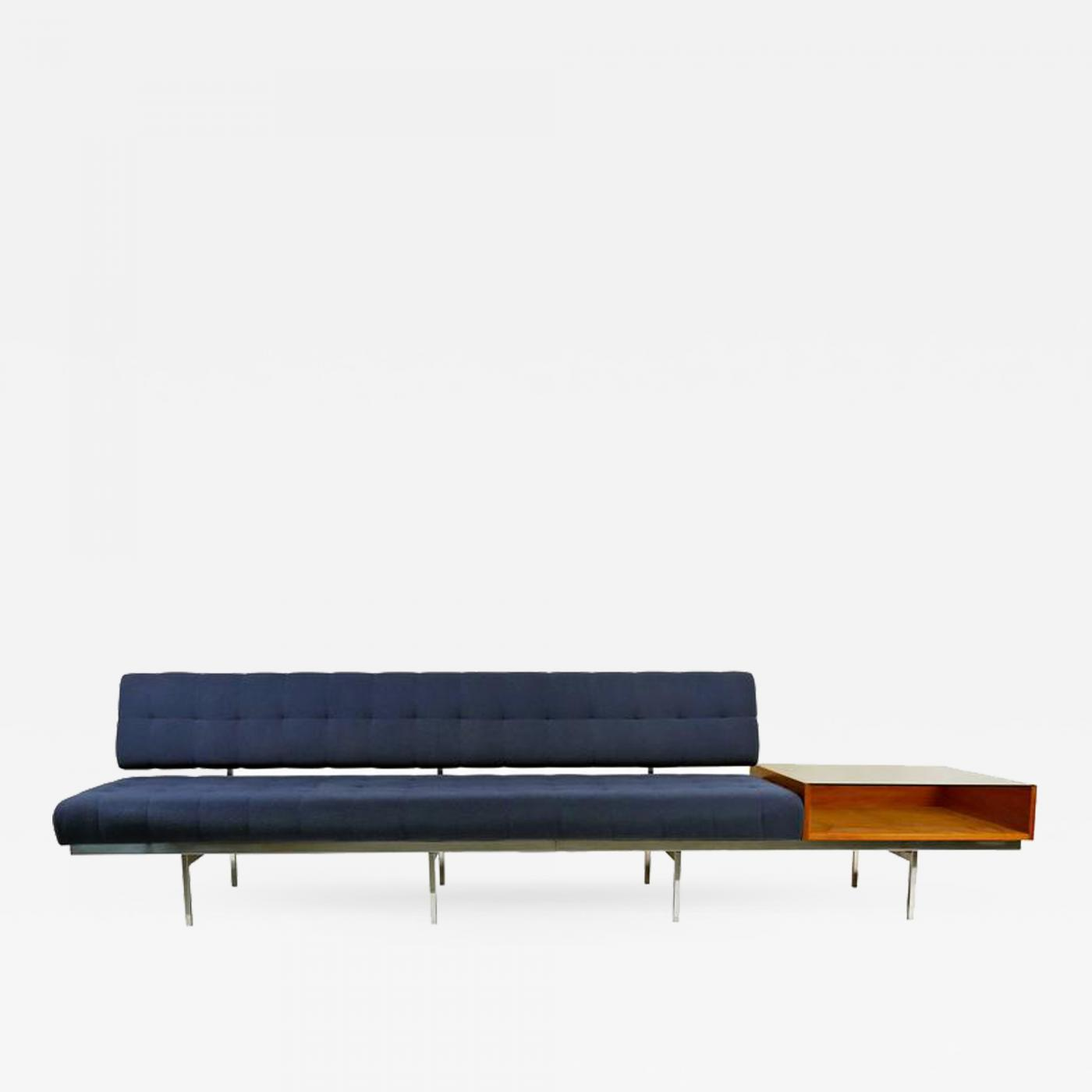 Knoll Sofa Florence Knoll Architectural Florence Knoll Sofa With Table Attachment For Knoll