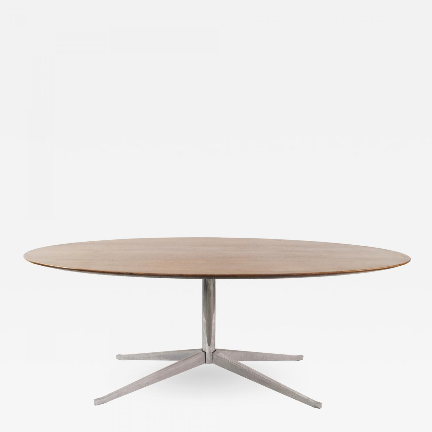 Knoll Table Florence Knoll Mid Century American Teak Oval Dining Table